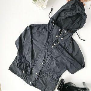 Gap Black Hooded Utility Jacket